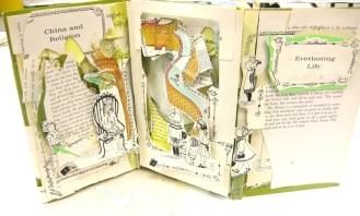 Oh Ye Jigs and Juleps! altered books