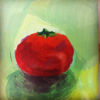 Tomato, 2013, acrylic on masonite