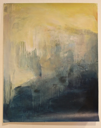Nothing north of here, 33″x42″, acrylic, monoprint, salt, on paper ©2014