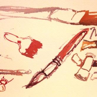 Tools, watercolor, 2015